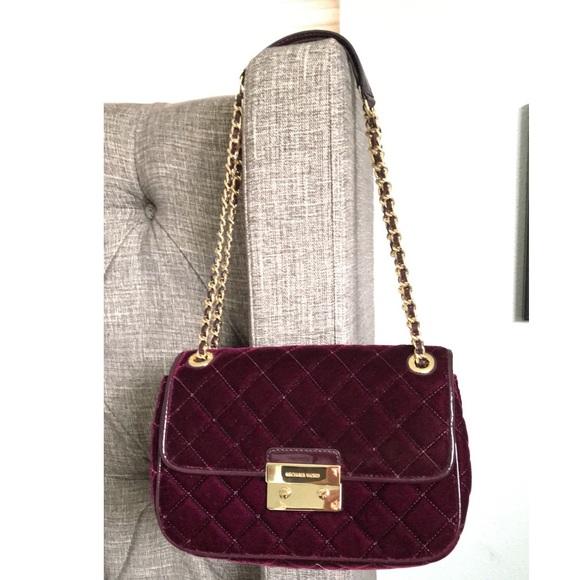 70827ae7caa24e Michael Kors Bags | Mk Sloan Large Size Velvet | Poshmark